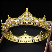 Queen King Vintage Crown Baroque Bride Headdress for Women Jewelry Wedding Hair Accessories Tiaras and Crowns Headpiece Pageant все цены