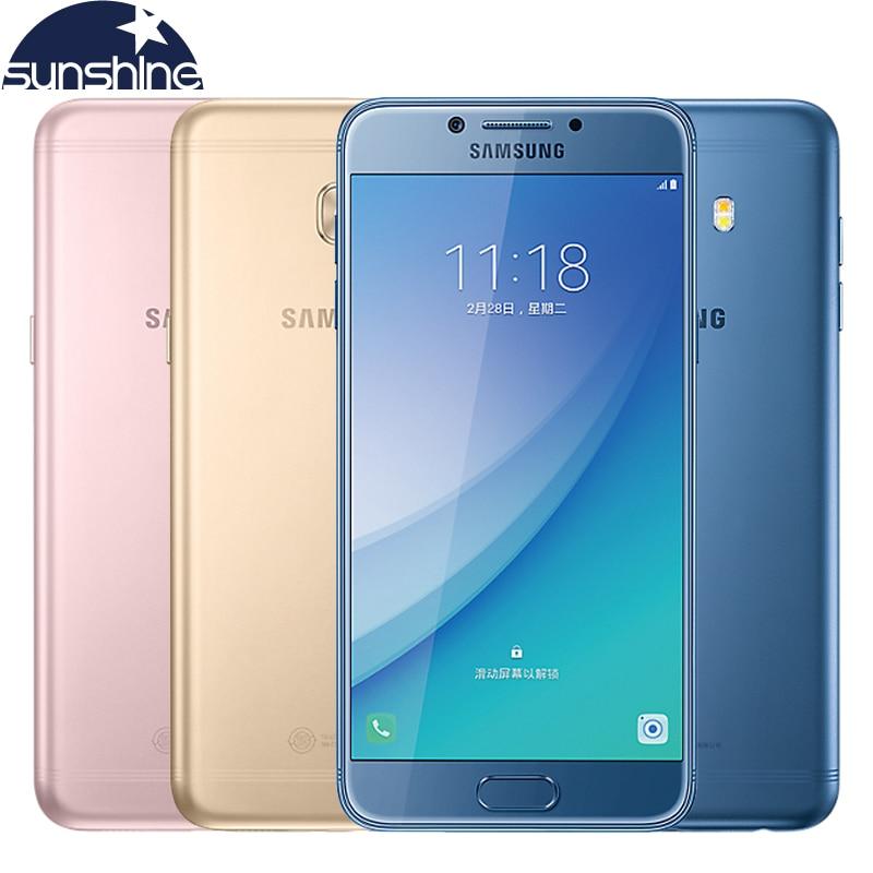 Original Samsung Galaxy C5 Pro C5010 4G LTE Mobile Phone 4G RAM 64G ROM Fingertprint Octa core 5.2' 16.0MP NFC Smartphone