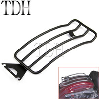 Black Motorcycle Luggage Rack Carrier Rear Solo Seat For Harley Electra FLHT Road King FLHR Road Glide FLTR Touring 98 04