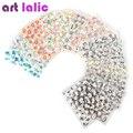 50 Hojas de 3d Nail Stickers Adhesivos de Alta Calidad Color de La Mezcla de Flores de Diseño de Uñas Consejos de Decoración de Manicura Herramientas
