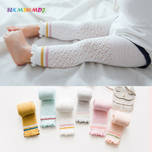 SLKMSWMDJ  summer new cotton mesh girl children thin breathable pantyhose baby can open leggings suit 0-4 years old 6 colors