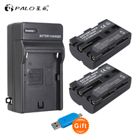Palo 2pcs NP FM500H 7.4v 2000mah np fm500h Digital battery camera Battery + Charger pack for sony a850 a900 a300 a200k a350 a200