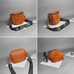 Image 3 - Сумка кросс боди для женщин, сумки мессенджеры из искусственной кожи, сумка на плечо, модное седло знаменитого бренда для леди, 2020