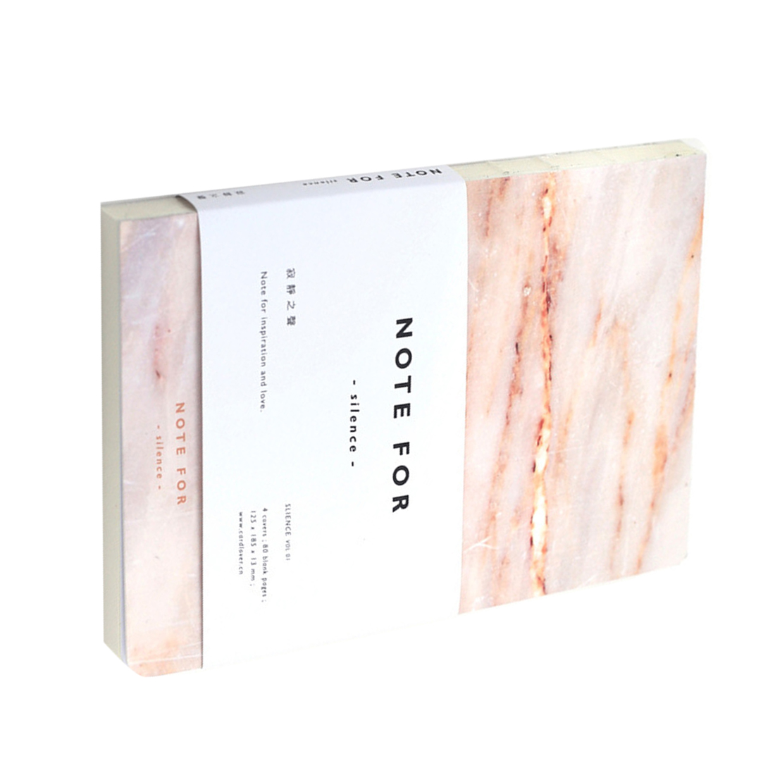 New Fashion Note For Silence Sketchbook Diary Drawing 80 Sheets Creative School Notebook Marble Pattern Office
