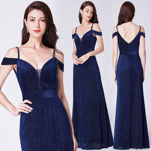 Image 3 - Evening Dresses 2019 Long Sleeve Ever Pretty V neck Sparkle Elegant Little Mermaid Autumn Winter Long Formal Party Prom Gowns
