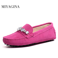 MIYAGINA High Quality genuine leather women shoes Female Casual Fashion Flats Spring Autumn driving shoes women leather loafers
