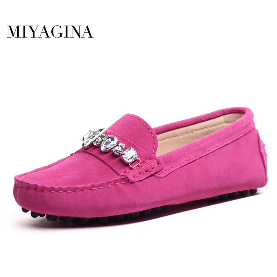 MIYAGINA High Quality genuine leather women shoes Female Casual Fashion Flats Spring Autumn driving shoes women leather loafers maden high quality european fashion men female shoes spring autumn leather casual shoes wild breathable white three flap shoes