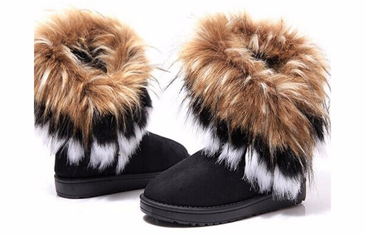 2016 New Fashion Women Snow Boots Round Toe Solid Fur Warm Woman Boots Comfortable Wild Casual Women Shoes Free Shipping ST910 (3)