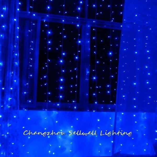 NEW!LED holiday light wedding celebration product 3*10m blue LED star lamp H258|led new|lamp lamp|lamp led - title=