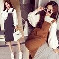 2015 платье новое поступление скобки карман украшение мода цельный женской одежде утолщение трикотажные длинное платье JX309