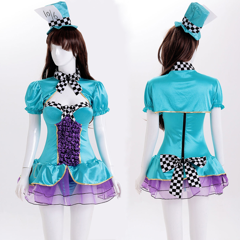 Ensen New Alice crazy hat game clothing Halloween parties play a little magic fairy cosplay performance clothing