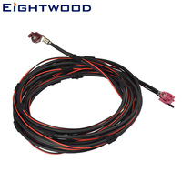 Eightwood Fakra HSD Code D Jack to Code H Female Socket Right Angle NBT Video Dacar 535 Cable for BMW E38 E39 E46 Land Rover L30