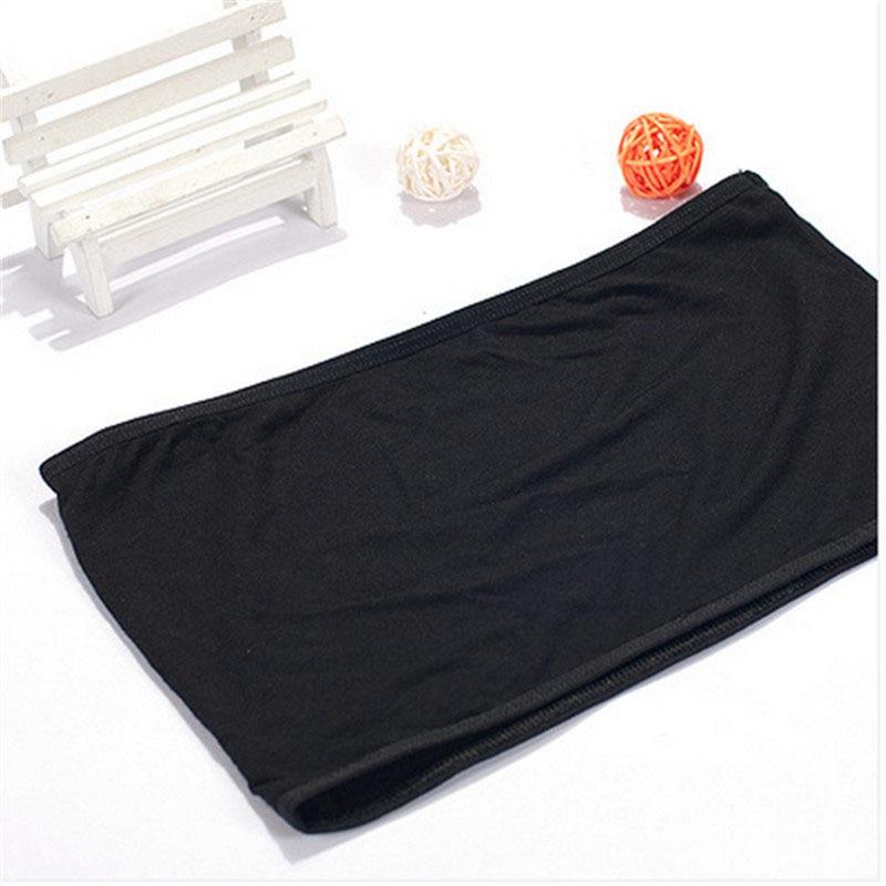 LNRRABC One Size Sexy Women Tube Tops Bandeau Thin Safety Crop Top Bra Underwear Anti Emptied Tank Top Strapless Stretch 6