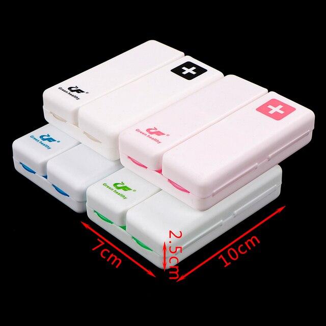 4 Colors Foldable 7 Days Pill Box Drug Tablet Storage Dispenser Medicine Case Container Organizer Travel Case Holder