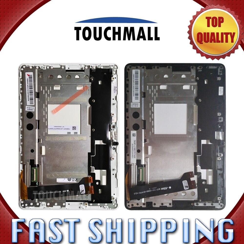 NEW LCD Display Touch Screen Assembly + Frame for Asus MeMO Pad 10 ME102 ME102A MCF-101-0990-01-FPC-V3.0 v4.0 v1.0 V2.0 Tablet