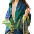 New fashion imitation cashmere wool scarf tassel shawl blanket oversized plaid women winter wram scarves wraps