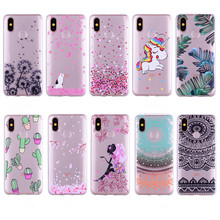 For Xiaomi 9 Floral Pattern Phone Cases Redmi Mi 6 6X 7 A2 Pocophone F1 Clear Mandala Unicorn Girl Soft Case