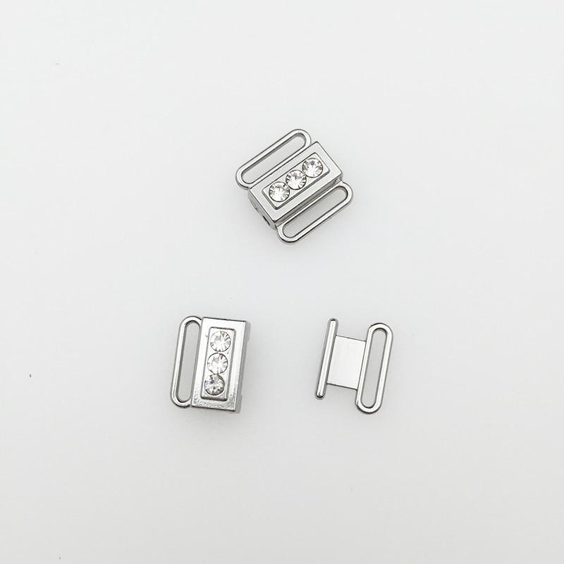 200 set/lote Baño de hebillas de cierre frontal clips de níquel y ferrosos gratis-in Hebillas y ganchos from Hogar y Mascotas    3