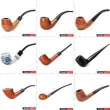 MUXIANG Classical Wood Smoking Pipe Rosewood Or Ceramic Tobacco Pipe With 3mm Or 9 mm Filter Free Accessories ad0009-aa0316S