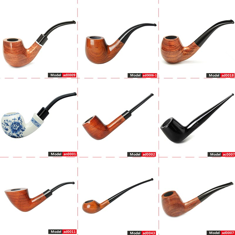 MUXIANG holz rauchen Tabak Rohr mit 3mm oder 9 mm filter Tabak rohr ad0009-aa0316S