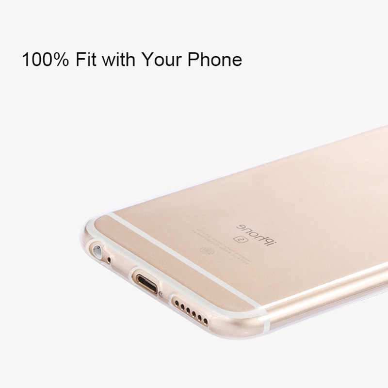 2018 Waktu Terbatas untuk iPhone 5 5 S 6 6 S 7 Plus 8 Back Cover Capa mewah Ultra Tipis Silica Gel Lembut Transparan Kasus Telepon