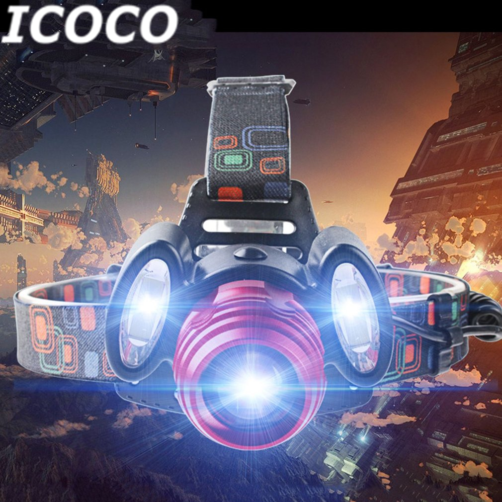 ICOCO Portable COB Long Range LED Headlight With Adjustable Light Multifunctional Head Night Hunting Light For Outdoor Activity
