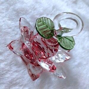 Image 4 - Glas Kristal Lotus Boom met 12pcs Lotus Fengshui Ambachten Home Decor Beeldjes Kerst Nieuwe Jaar Geschenken Souvenirs Decor Ornament