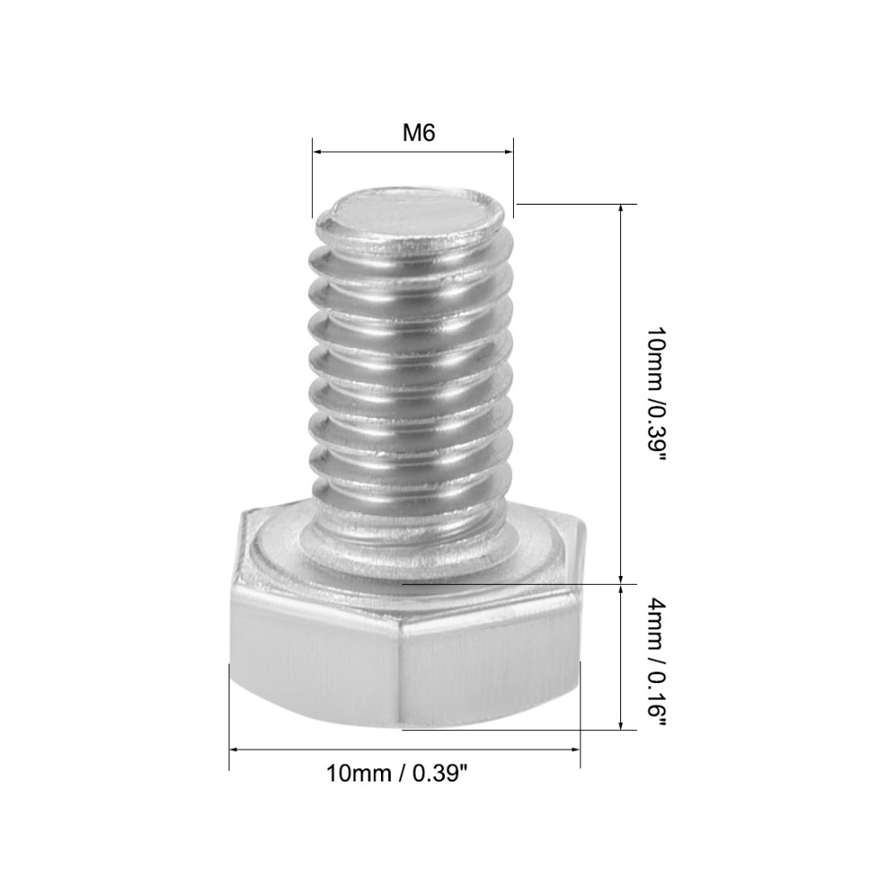 uxcell M6 x 60mm 304 Stainless Steel Sleeve Anchor Hex Nut Expansion Bolt 5PCS