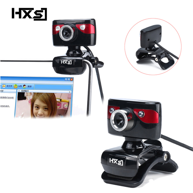 HXSJ  USB  Camera WebCam Web Camera with Microphone to the Computer Support Night Vision for Desktop Laptop Skype