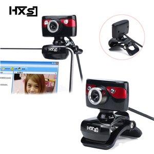 Image 1 - HXSJ USB Della Macchina Fotografica WebCam Web Camera con Microfono per il Computer di Visione Notturna di Sostegno per il Computer Portatile Desktop Skype