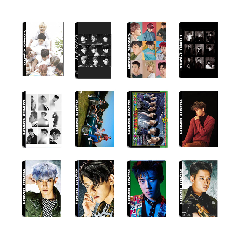 Lovely Kpop Exo The War Private Photo Paper Card Chanyeol Sehun Self Made Autograph Photocard Poster 8pcs Jewelry & Accessories