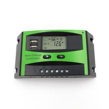 60A 50A 40A 30A 20A 10A 12V 24V PWM Solar cell panel battery Charge Controller Regulator LCD Display USB 5V Mobile Phone Charger