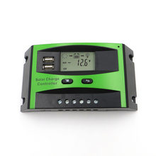 60A 50A 40A 30A 20A 10A 12V 24V PWM Solar cell panel battery Charge Controller Regulator LCD Display USB 5V Mobile Phone Charger(China)