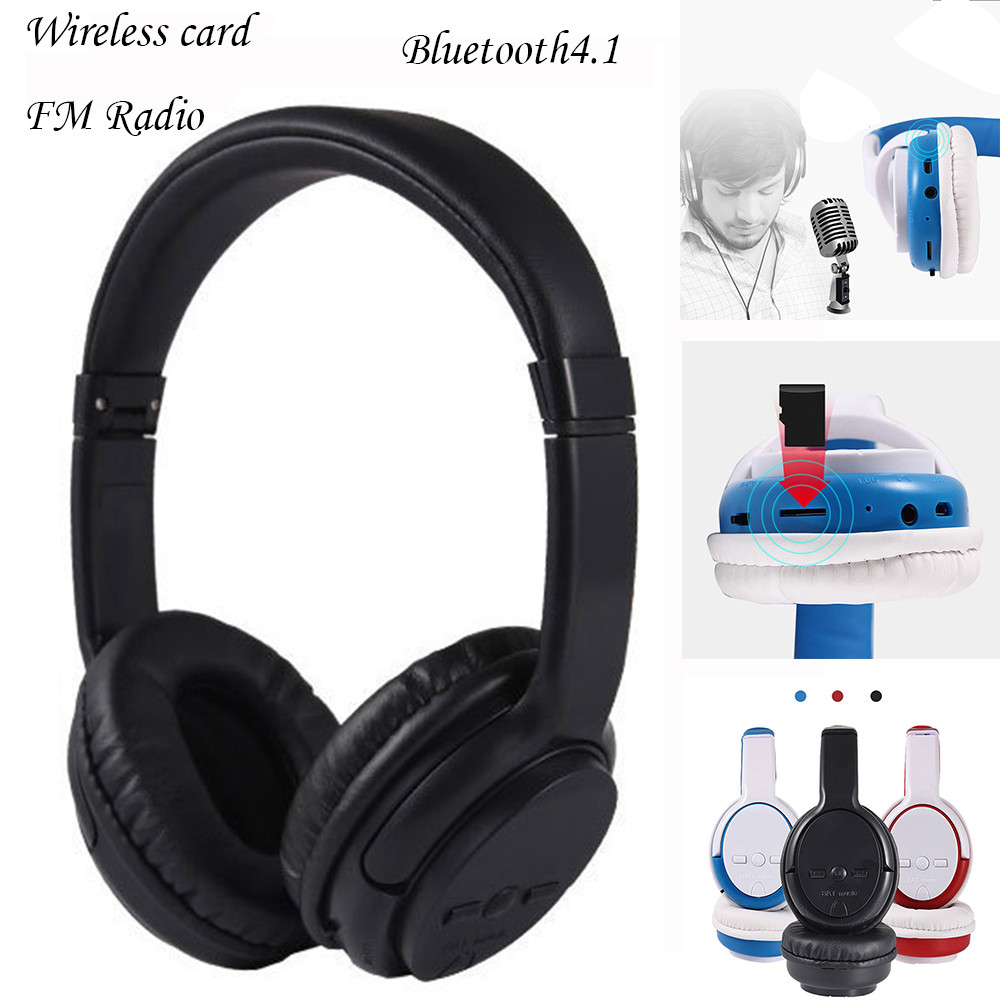 Earphones Headphones  Wireless Bluetooth4.1 Headphones  Headset Noise Cancelling And FM RadioEarphone