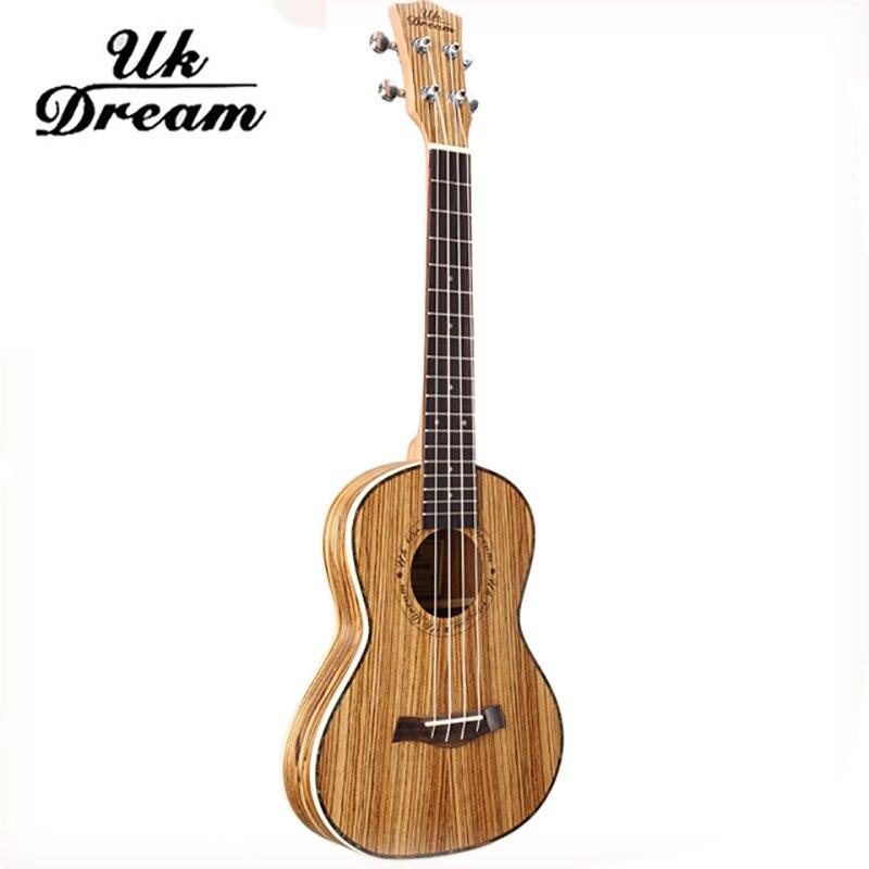 UK Dream 26 inch Full Zebra Thin Barrel Wooden Guitar Musical Instruments Closed Knob Ukulele 4 Strings Acoustic Guitar UT-226T zebra musical instruments keyboard instruments piano sw 37k 37 keys melodica mouth organ with handbag