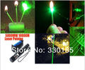 high power Military lazer Retail 100w 100000mw 532nm Green Laser Pointers presenter Burning Matches & Light Burn Cigarettes+key