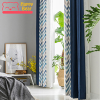 Happy Bear Window Curtain for Bedroom Home Half Shading Curtain for Living Room Decorative Curtain Hotel Cafe Curtain for Window
