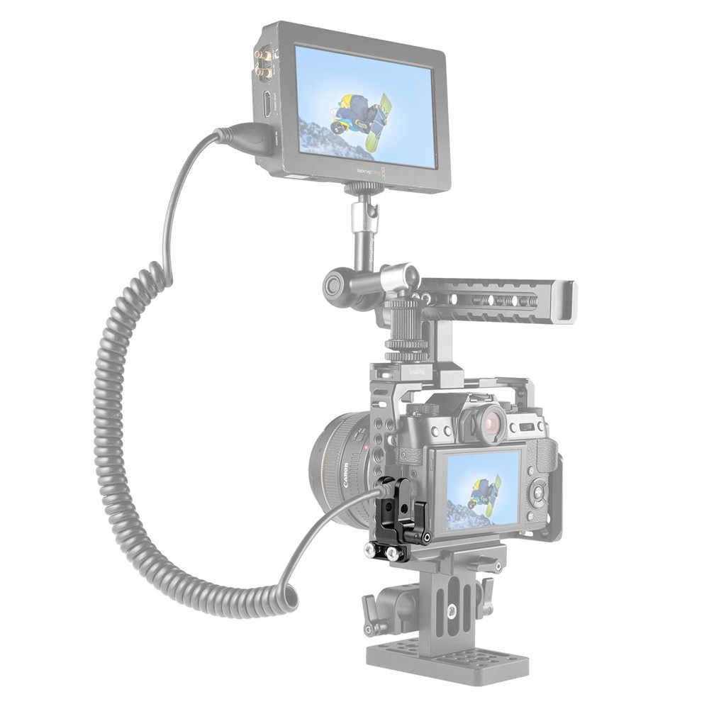"Zacisk kablowy SmallRig HDMI do Sony a7II/a7RII/a7SII ramka do kamery DSLR z dwoma śrubami 1/4 ""-20-1679"