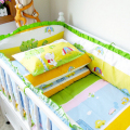 Multi-size Toddler Baby Cradle Bedding Crib Set Unisex Baby Bed Linen In a Cot Cartoon Scenery Baby Bed Cot Pad Bumper Sheet