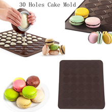 New 1PCS 30 Hole Silicone Molds For Kitchen Cake Biscuits Chocolate Dessert Making Pad Baking Mat Tools