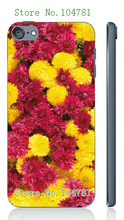 Mobile Phone Case Retail 1pc beauty flowers natural design protective white hard cases for ipod touch