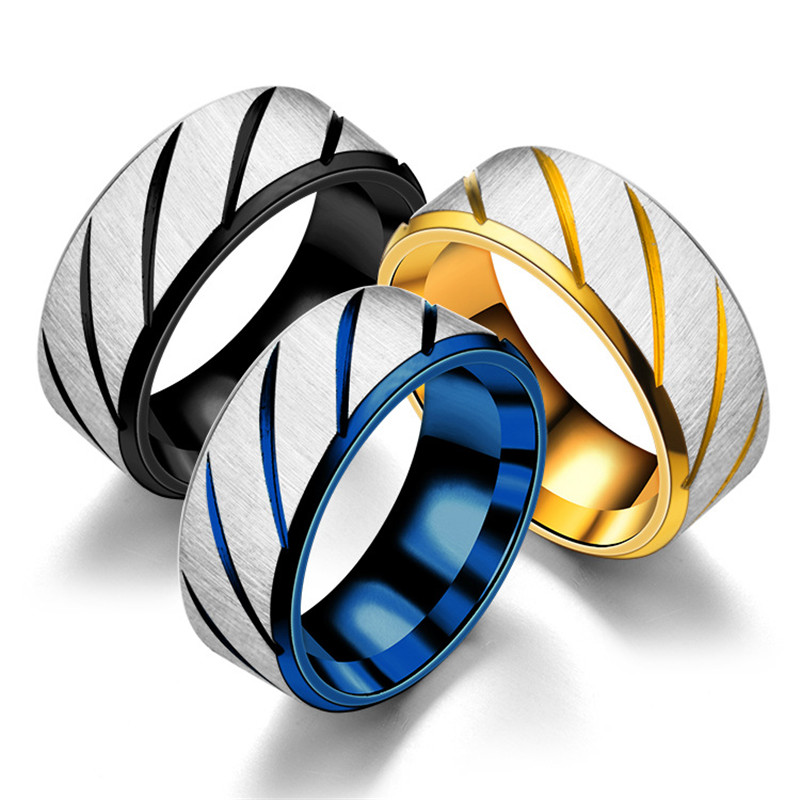 Men's Titanium Steel Ring Mirror Polishing Jewelry Anniversary Engagement Wedding Promise Ring Valentine's Day Gift