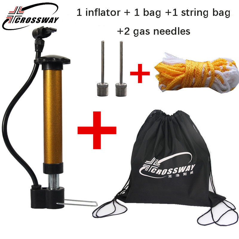 CROSSWAY manual air Pump Ball Mini basketball ball football volleyball Ball Inflator string bag backpack gas needles cheap new