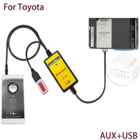 Auto Car USB Aux In Cable Adapter 2 6Pin Audio Aux Plug MP3 Player Radio Interface
