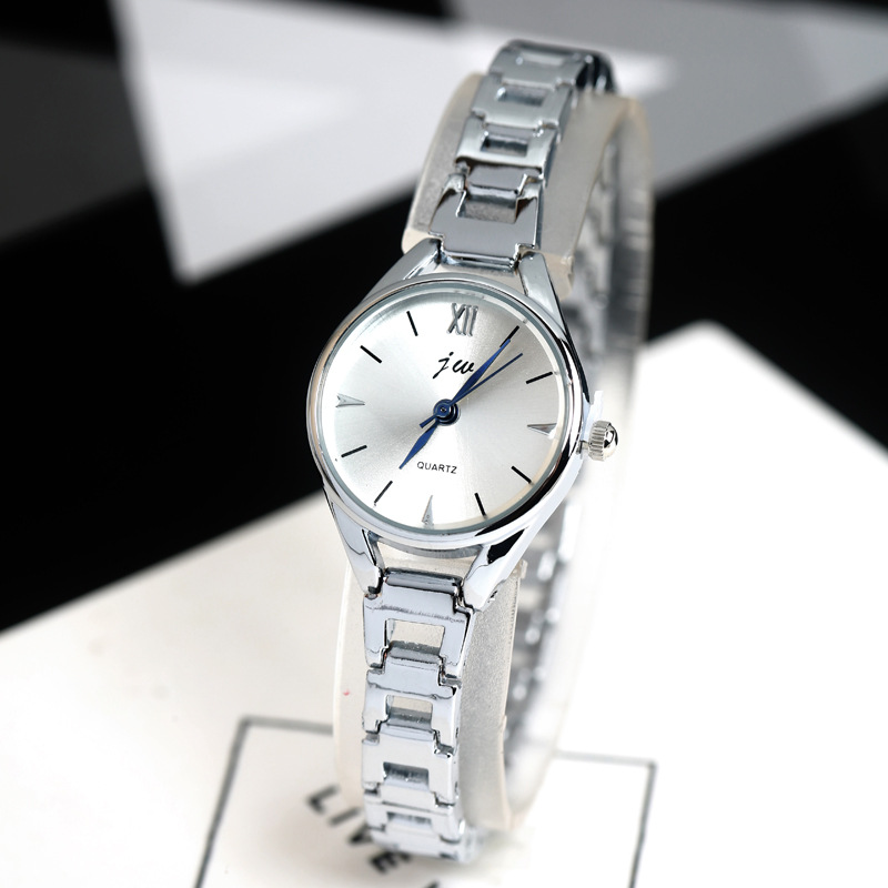 US $5 98 25% OFF|JW 2019 New Fashion Bracelet Watches Women Luxury Rose  Gold Stainless Steel Quartz Watch Clock Female Casual Dress Wristwatches-in