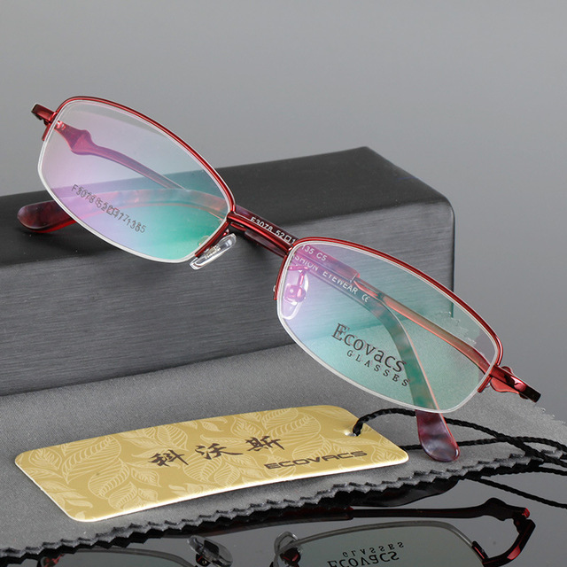 6acaeb00fd5 Ma am Golden Alloy Spectacles Frame Fashion Half Frame Presbyopic Picture  Frame Danyang Glasses F