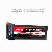 HRB Graphene Battery Lipo 5S 18.5V 5000mAh 100C Burst 200C XT90 XT60 T Strap High Discharger Rate For Car Truck Boat Quadcopter