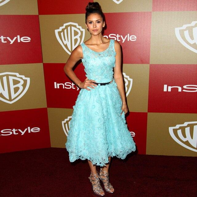 Elegante Schöne Nina Dobrev Oscars Red Carpet Celebrity Mittelkurz ...