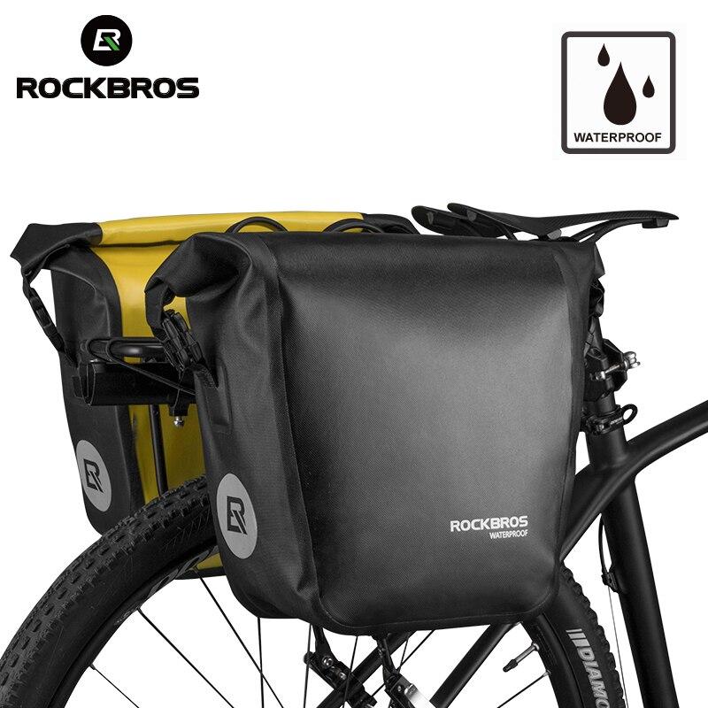 ROCKBROS sac de vélo 18L Portable étanche cyclisme vtt sac de vélo sacoche arrière Rack siège coffre sac à dos étui vélo accessoires