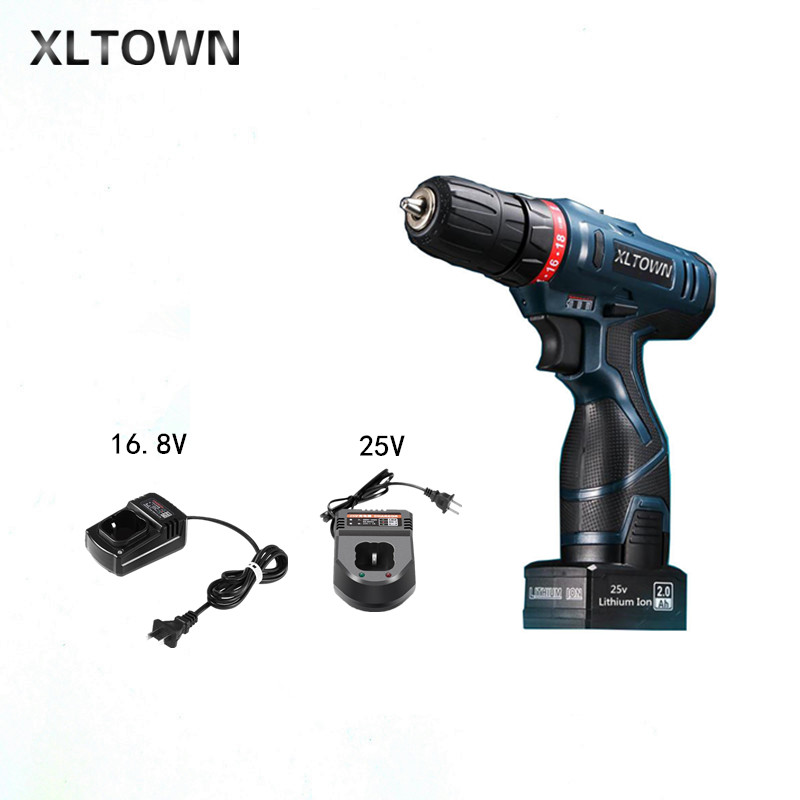 Xltown 25v Cordless Electric Drill Multi-Action Mini Lithium Battery Rechargeable Electric Screwdriver Home Power Tools
